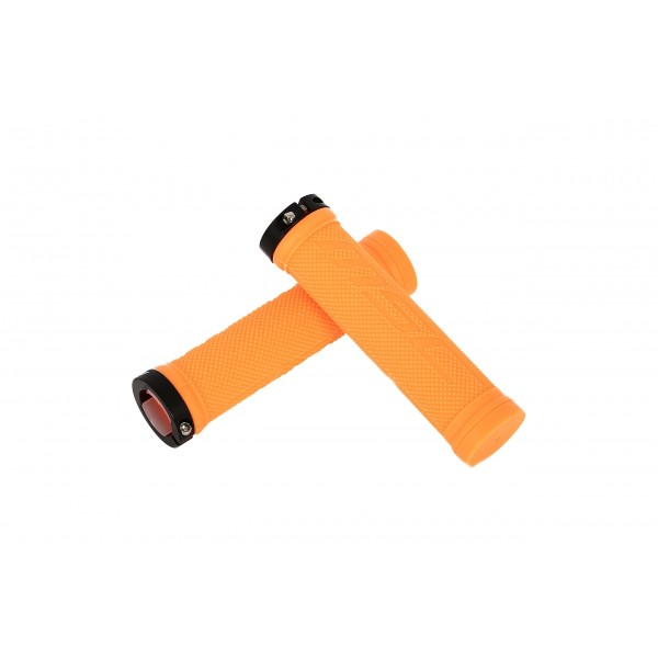MSC Bikes Grip01 Puños de Bicicleta, Naranja, 130 mm