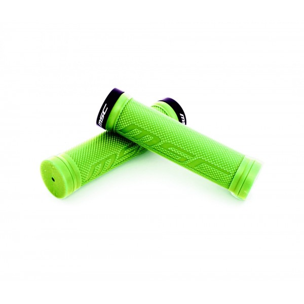 MSC Bikes GRIP01GN Puños Blocantes, Verde, 130 mm