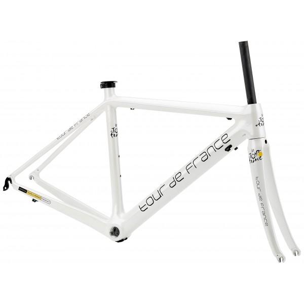 Tour de France 700C - Cuadro-horquilla de carbono para bicicletas de carrera