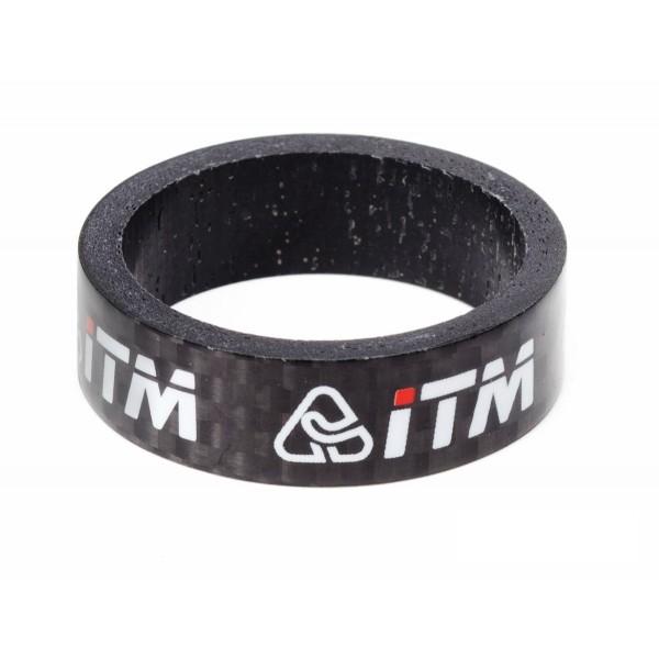 ITM ITM-VA092SPA CC3510D Distanziale Dirección Carbon, Negro, 10 mm