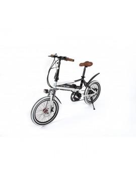 """Cityboard Tourneo Bicicleta Eléctrica, Unisex Adulto, Blanco/Negro, 20"""""""