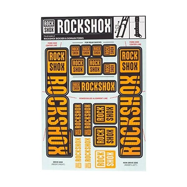 RockShox Pegatinas de 35mm neon naranja, Boxxer/Domain doble corona, 11.4318.003.517piezas de repuesto, naranja, Estándar
